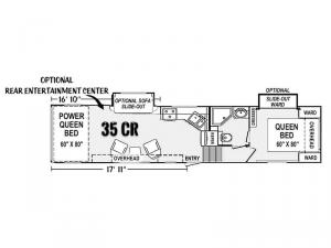 Genesis Supreme 35 CR Floorplan Image