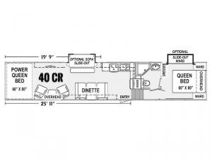 Genesis Supreme 40 CR Floorplan Image