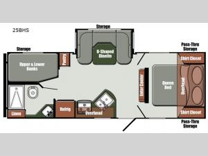 Gulf Breeze Limited Edition 25BHS Floorplan Image