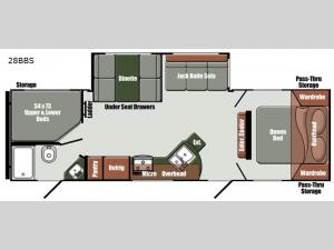 Gulf Breeze Limited Edition 28BBS Floorplan Image