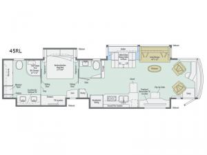 Grand Tour 45RL Floorplan Image