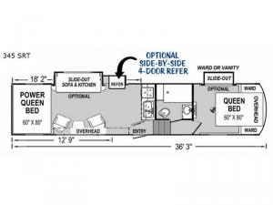 Supreme 345 SRT Floorplan Image
