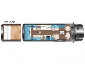 Weekender MD4-Lounge Floorplan Image