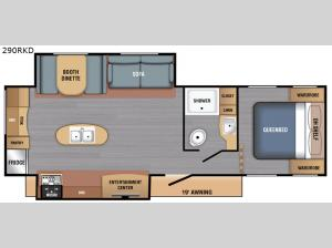 LX Series 290RKD Floorplan Image