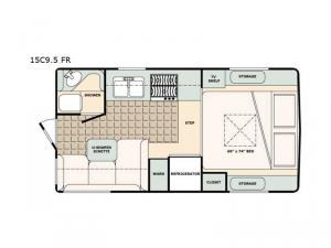 Bigfoot 1500 Series 15C9.5 FR Floorplan Image