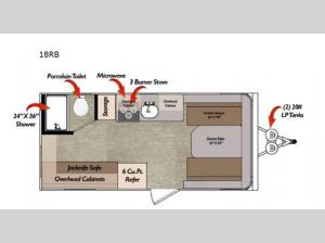 Deluxe 18RB Floorplan Image