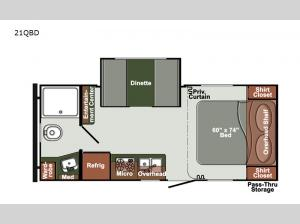 Kingsport Ranch 21QBD Floorplan Image