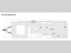 ATC Toy Hauler 8.5X28 Bedroom Floorplan Image