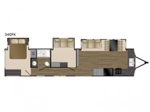 Lakeview 340FK Floorplan Image