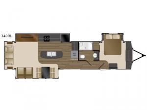 Lakeview 340RL Floorplan Image