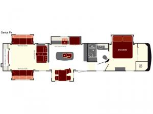 South Fork Santa Fe Floorplan Image