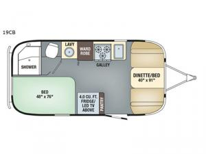 Flying Cloud 19CB Floorplan Image
