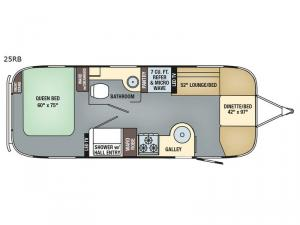 Flying Cloud 25RB Floorplan Image