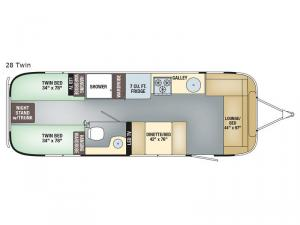 Flying Cloud 28 Twin Floorplan Image