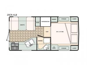 Bigfoot 2500 Series 25C9.4LB Floorplan Image