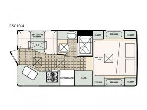 Bigfoot 2500 Series 25C10.4 Floorplan Image