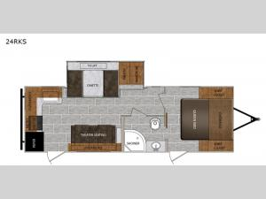 Tracer Breeze 24RKS Floorplan Image