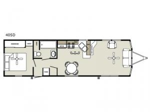 Summit 40SD Floorplan Image