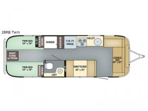 International Signature 28RB Twin Floorplan Image