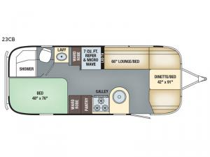International Serenity 23CB Floorplan Image