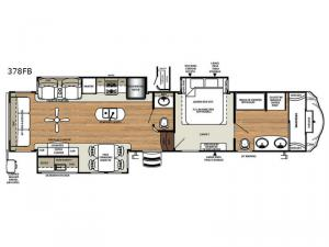 Sierra 378FB Floorplan Image