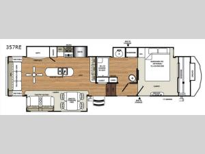 Sierra 357RE Floorplan Image