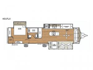 Sierra Destination Trailers 401FLX Floorplan Image