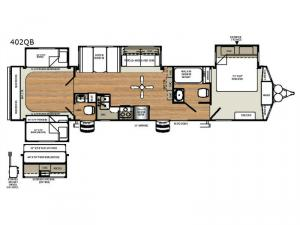 Sierra Destination Trailers 402QB Floorplan Image
