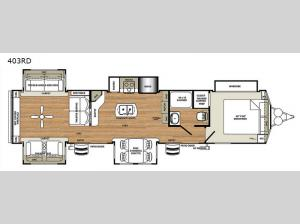 Sierra Destination Trailers 403RD Floorplan Image