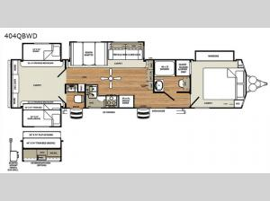 Sierra Destination Trailers 404QBWD Floorplan Image