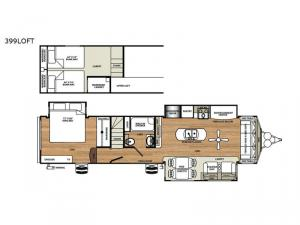 Sierra Destination Trailers 399LOFT Floorplan Image