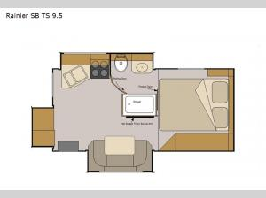 Host Campers Rainier SB TS 9.5 Floorplan Image