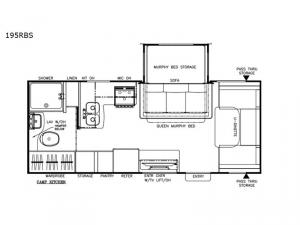 Freedom Express Ultra Lite 195RBS Floorplan Image