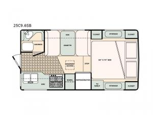 Bigfoot 2500 Series 25C9.6SB Floorplan Image
