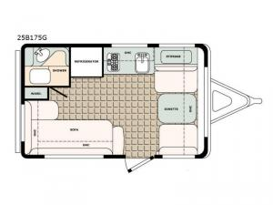 Bigfoot 2500 Series 25B175G Floorplan Image