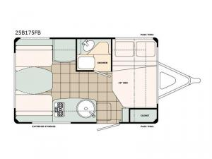 Bigfoot 2500 Series 25B175FB Floorplan Image