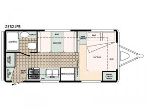 Bigfoot 2500 Series 25B21FB Floorplan Image