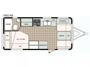 Bigfoot 2500 Series 25B21RB Floorplan Image