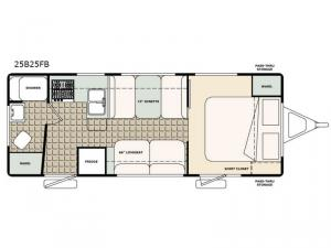 Bigfoot 2500 Series 25B25FB Floorplan Image