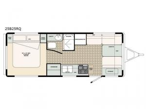 Bigfoot 2500 Series 25B25RQ Floorplan Image