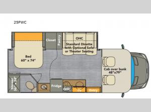 Villagio 25FWC Floorplan Image