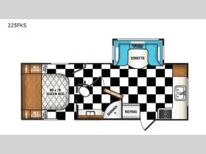 Retro 225FKS Floorplan Image