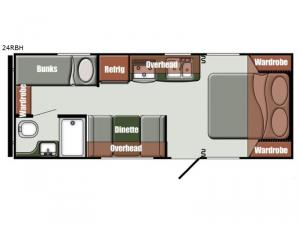 Streamlite Ultra Lite 24 RBH Floorplan Image