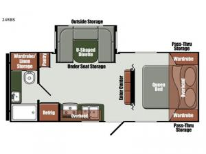 Streamlite Ultra Lite 24 RBS Floorplan Image