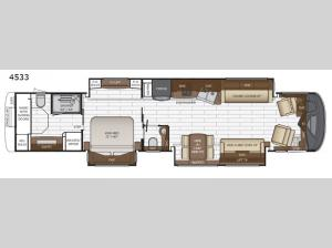 King Aire 4533 Floorplan Image