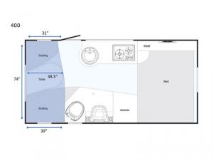 T@B 400 Std. Model Floorplan Image