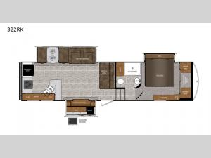 Wildcat 322RK Floorplan Image
