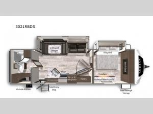 Kodiak Ultimate 3021RBDS Floorplan Image