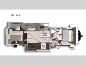 Kodiak Ultimate 3321BHSL Floorplan Image