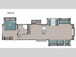 Trailmaster Lodge Series 406FLR Floorplan Image